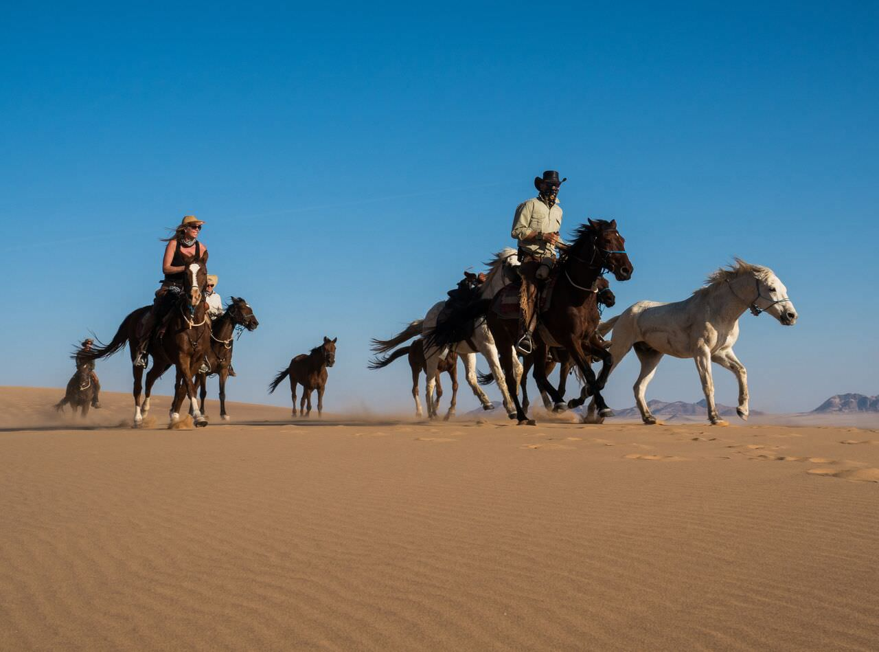 riding in the namib