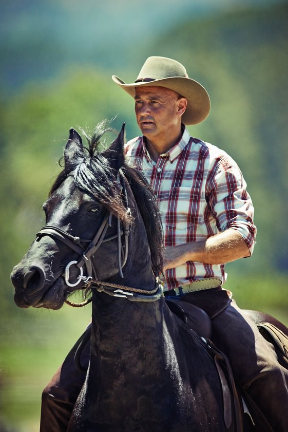 A cowboy on his horse