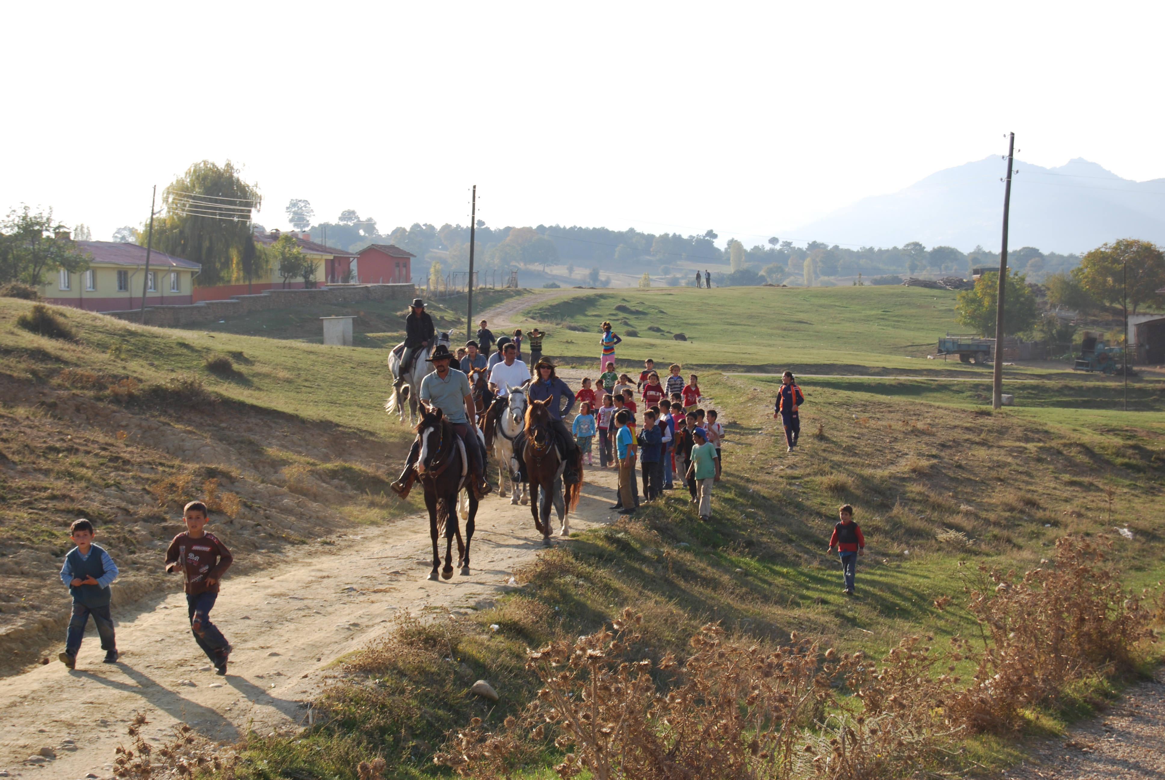 Riders along the Evliya Celebi Route in Turkey
