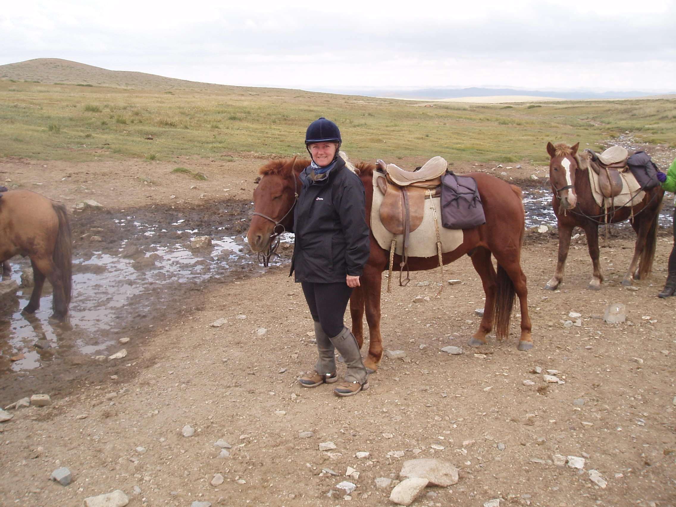 Chris sporting her Terrain boots in Mongolia