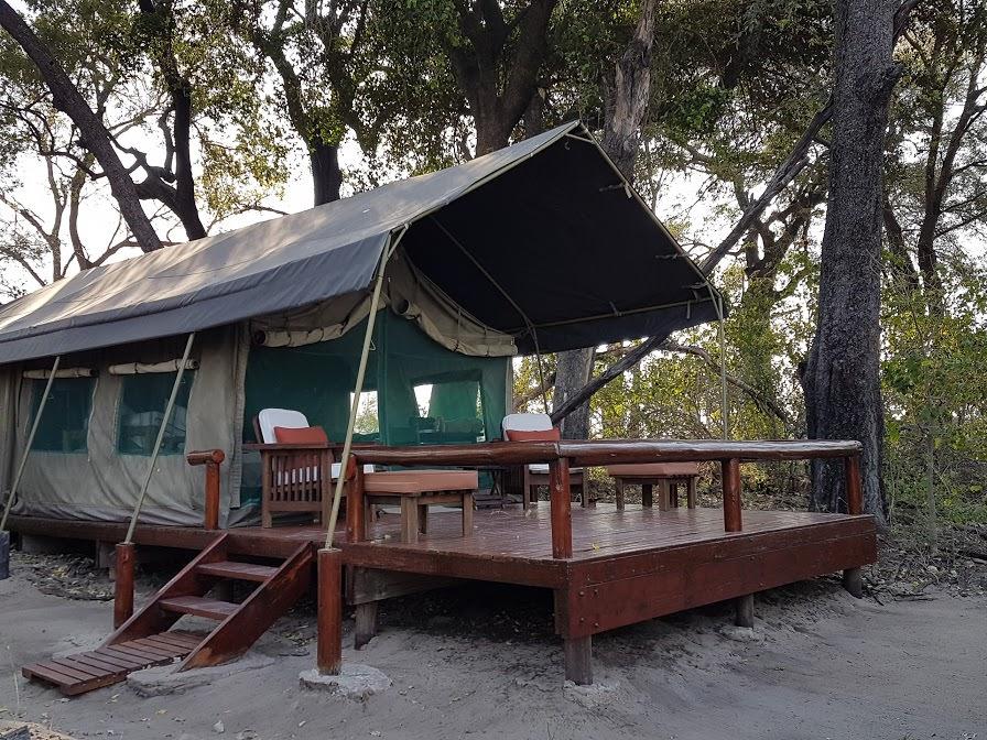 David's tent at Kujwana camp
