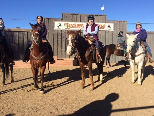 riding at white stallion ranch