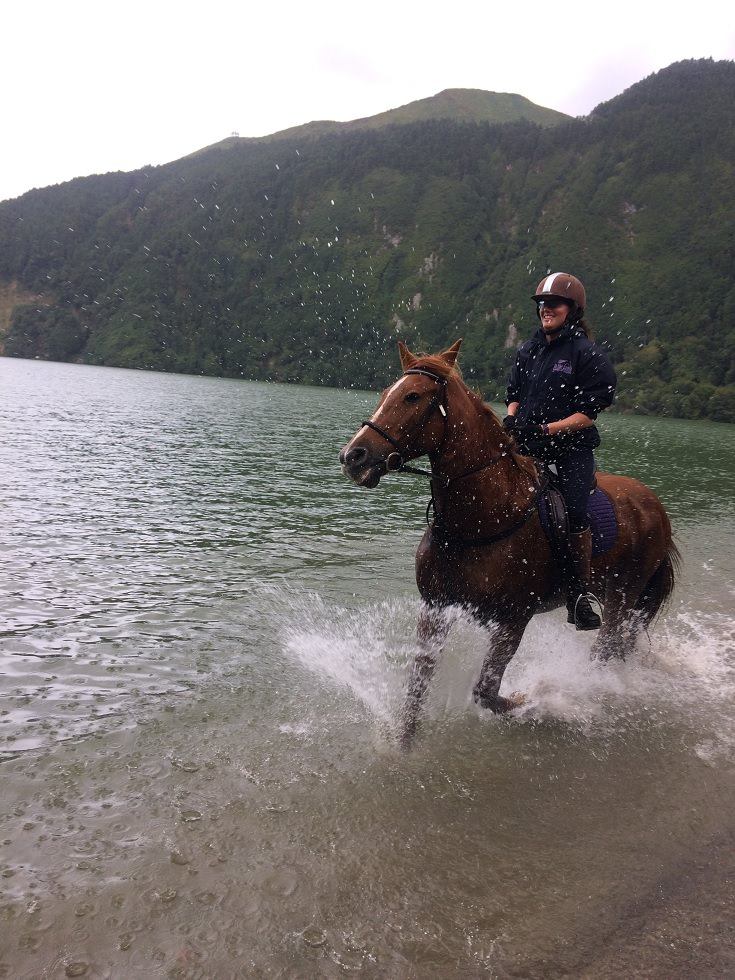 cantering around the lakes on the azores