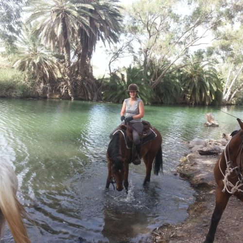 Israel riding River Jordan