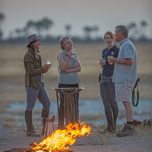 The Kalahari Riding Safari in the Makgadikgadi salt pans of Botswana. Luxury tented camp. Wine.