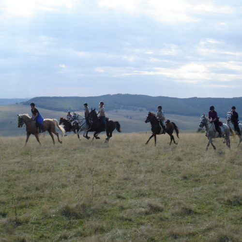 Riding across the hills