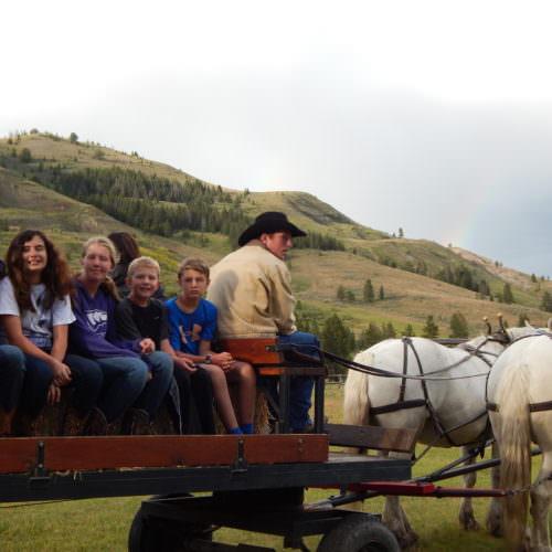 Enjoy a wagon ride