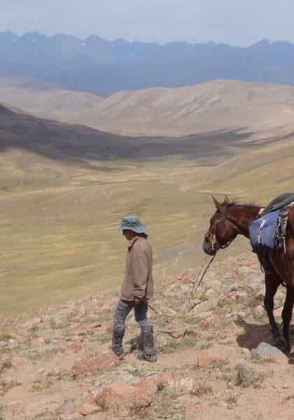 Riding in Kyrgyzstan