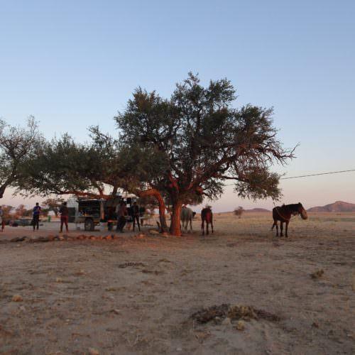 Desert camping Namibia