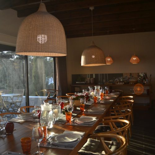 The dining room at Monte Velho, Portugal
