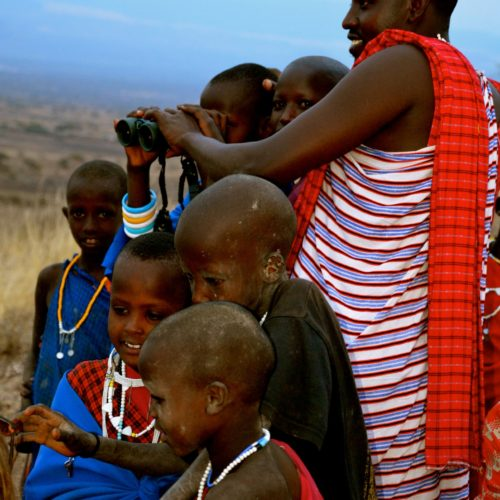 Maasai children in Tanzania