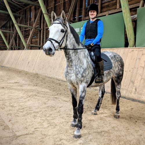 Riding at Galiny Palace in Poland