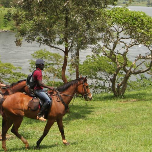 Horseback safari in Uganda