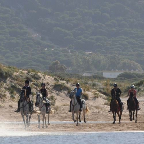 Riding on the beach in Andalucia