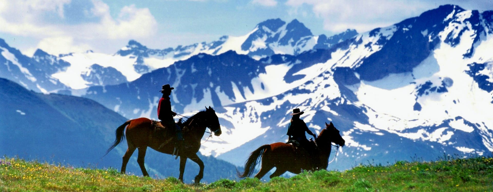 Riders on Potato Range, Chilcotin, British Columbia