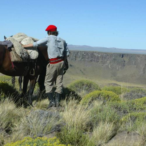 Wonderful views while horse riding in Argentina. Estancia Huechahue
