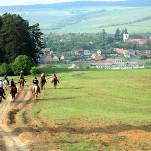 Ride through medieval villages. Riding holidays in Transylvania with In The Saddle.