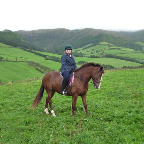 Learn to Ride Holidays on the Azores. Beautiful views on horseback.