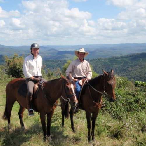 Guests on their In The Saddle riding holiday