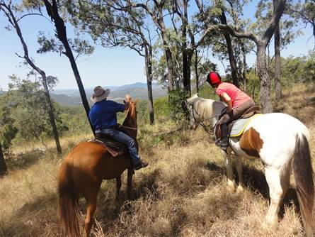 Riding in the mountains of Australia