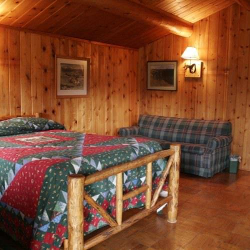 Cabins are rustic in design