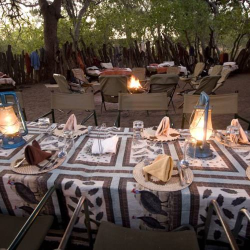 Tuli Trail mobile horseback safari holiday. Riding in Botswana. Bush camp fine dining.