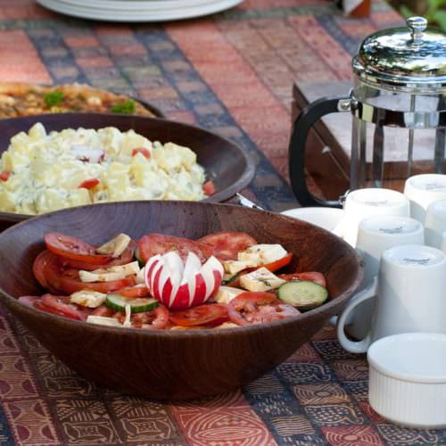 Tuli Trail mobile horseback safari holiday. Riding in Botswana. Bush camp. Lunch.