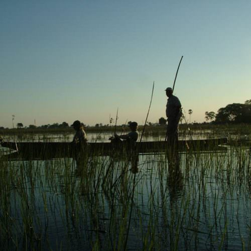 Kujwana - A riding safari exploring the remote western region of Botswana's Okavango Delta. Mokoro.