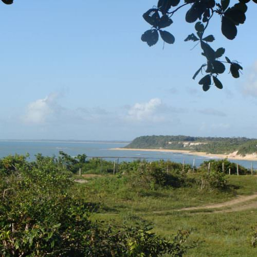 Riding Holidays in Brazil. Beach riding in Bahia. Coastline view,