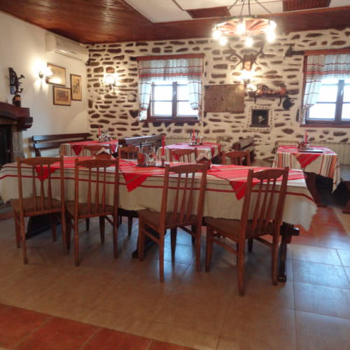 In The Saddle trail riding holidays in Bulgaria. The dining room
