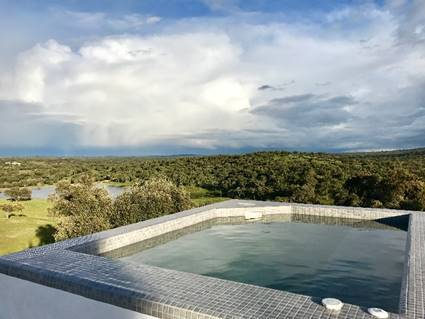 Stunning views from the jacuzzi