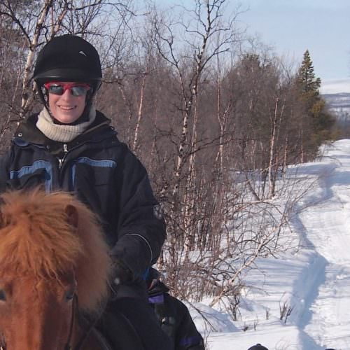 Riding in northern Sweden