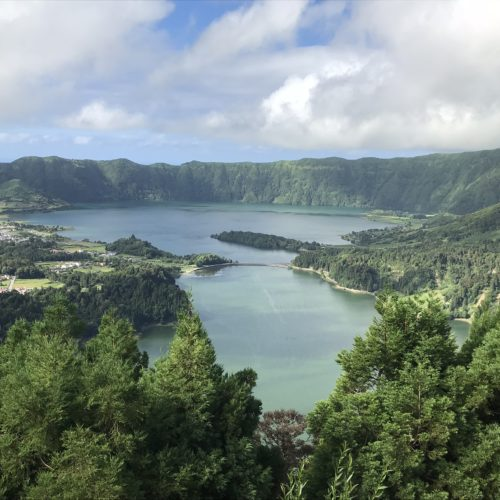 Learn to Ride Holidays on the Azores. View of the Twin Lakes.