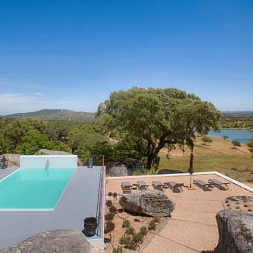 The pool overlooking the Monte Velho estate