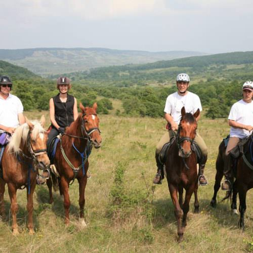 Riding holidays in Transylvania with In The Saddle. Horses and riders.