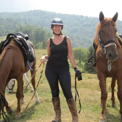 Riding holidays in Transylvania with In The Saddle. Horses and rider