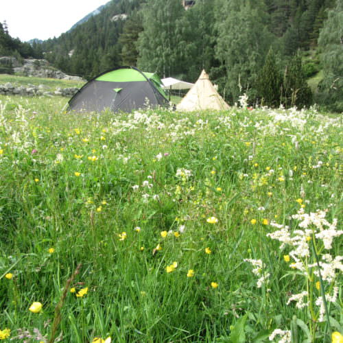 Adventurous trail riding holiday through the Pyrenees Mountains, Spain. Camping, tents