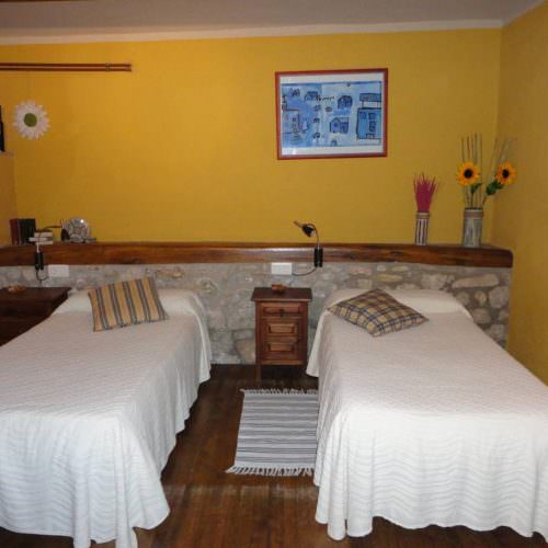 Riding holidays through the Pyrenees and coastal trails in Catalonia. Spain. Twin bedroom
