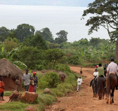 Riding in Uganda