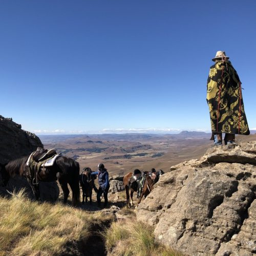 Horses and herders in Lesotho