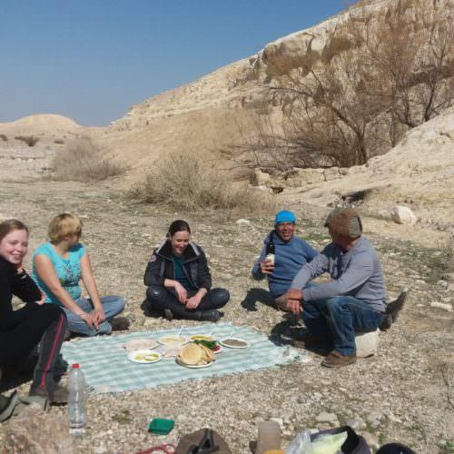 Israel picnic desert