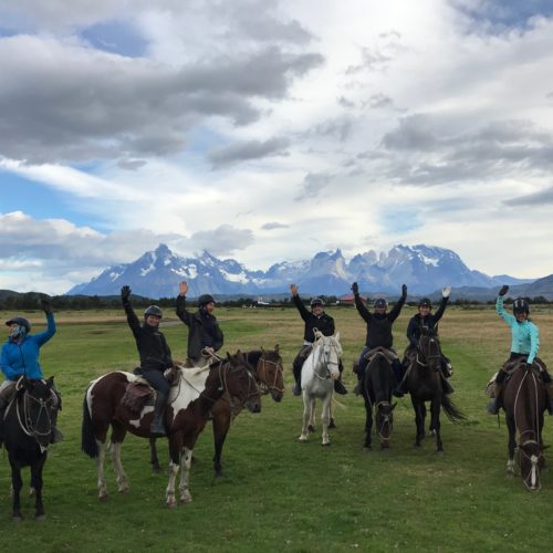 Group riding in Chile