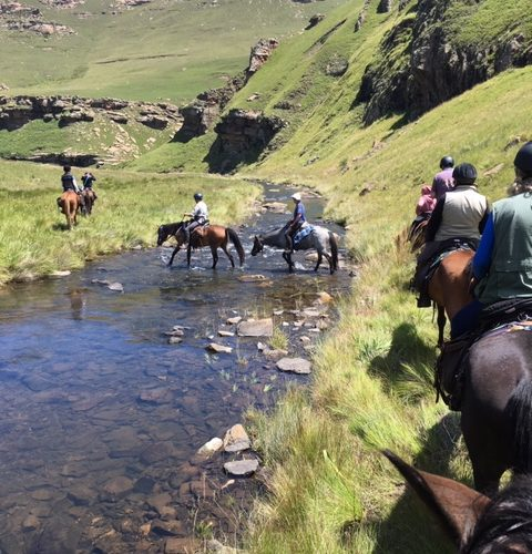 River crossing in Lesotho