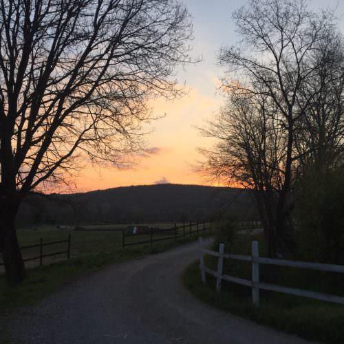 Sunset at Berardenga