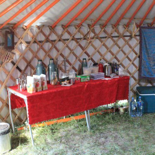 Mongolia camp breakfast