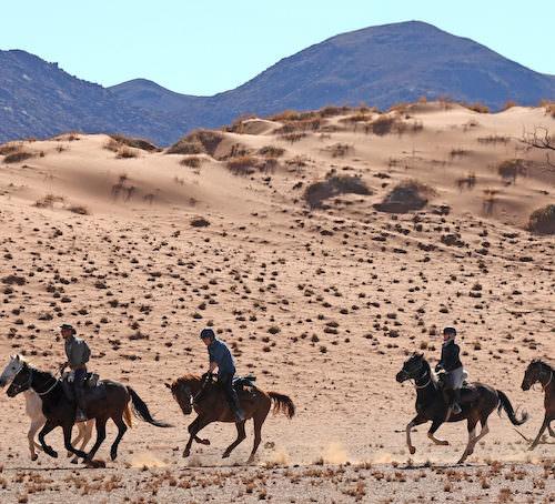 Desert ride in Namibia
