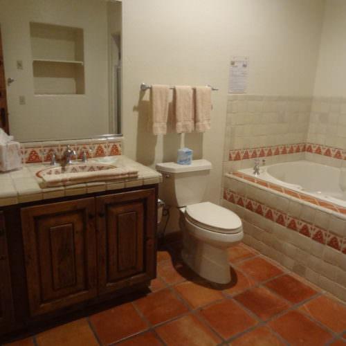 En-suite bathroom at Tanque Verde