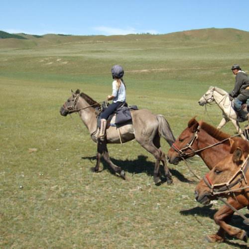 Mongolia canter riding