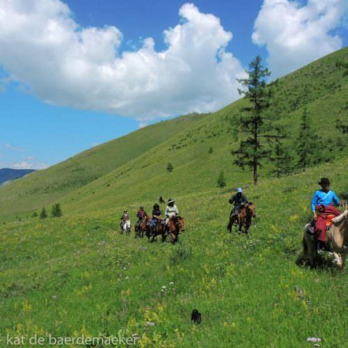 Mongolia riding spring