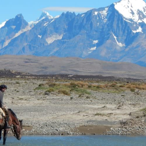 Riding in Torres del Paine, Patagonia